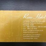 tarjeta de hotel para el taxi, no olvidar