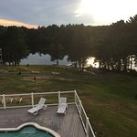 The view of the pool and lake from our room. Breathtaking.