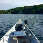 Charlotte out on the lake.