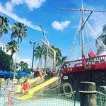 Shipwreck landing pool