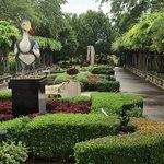 The Lego dodo invites you to explore this whimsical garden.
