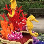 This vibrant display is another favorite Lego art work.