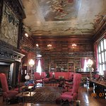 Biltmore library -- note painted ceiling and detailed mantle.