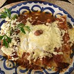 Cheese Enchiladas with Red Sauce