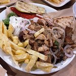 "Special ""gyros"" made of chopped whole steaks"
