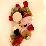 Le dessert aux fruits rouges