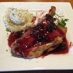 Roasted Duck w/cherry sauce