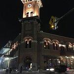 Corner tower building on Main St, Grapevine, TX
