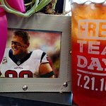 Free Tea and J.J. Watt.....THAT'S a good day!!