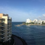 View of the Atlantic Ocean and Condado Lagoon.