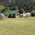 The larger view of Two of Our Cabins and the spacious area around them