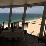 Day at the beach from the revolving restaurant and bar