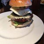 Full English burger...burger, bacon, cheese, black pudding and egg