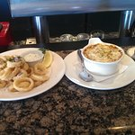 Calamari and French Onion Soup