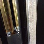 broken door lock.