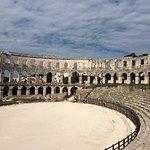 Inside of Pula Arena