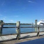 Breakfast view from the Boardwalk Cafe