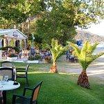 Cozy restaurant on beach dining