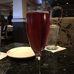 "Chambord & sparkling wine: tasted lake ""cough syrup"" per Wifey, I agree"