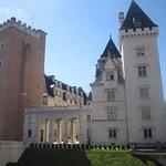 Château de Pau, vu du petit train dans lequel nous avons fait la visite de la ville.