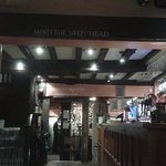 Low beams in the bar