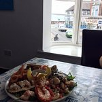 Best seafood platter with a view!
