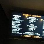 Stardate Cafe menu