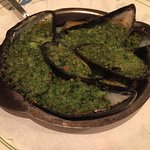 Les Moules appetizer (mussels). Never have I experienced such delicious, plump mussels!
