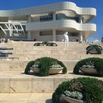 the entrance of the Getty Museum