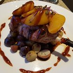 Grilled Pork Chop with Peaches