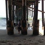 Low tide walk under the pier
