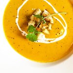 For the cold days, a wholesome butternut, ginger and coconut milk soup.
