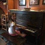 the piano in the corner that they let my daughter play