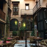 Courtyard where breakfast is served