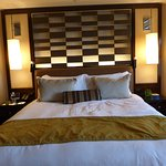 Our bed in the premier room.