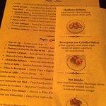 Dali menu