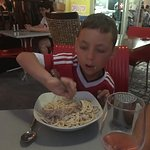 Amazing spaghetti carbonara and curry. Staff very friendly and helpful and good local wines espe