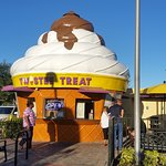 The iconic soft serve cone shaped building.