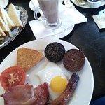 Full Irish breakfast - overcooked.