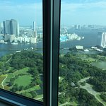 the view from the room to Tokyo bay.