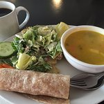 Daily Special: Soup, Salad, Half Wrap - Christopher's Coffee House, Timmins ON