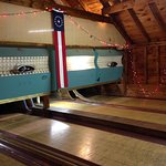 Vintage candle pin bowling in the Quarterdeck (playroom)