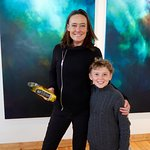 our son with artist Carol Cronin