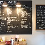 Wall Posted Menu - Christopher's Coffee House, Timmins ON