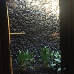 Outdoor Lava Rock shower room