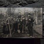 Fotos históricas ilustram o passeio