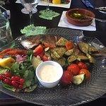 Fisch mit mediterrane Gemüse