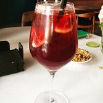 Sangria in the bar near the pool
