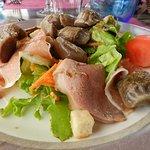 Salade de gésiers et jambon de pays