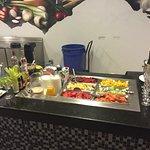 Breakfast drink/smoothie station